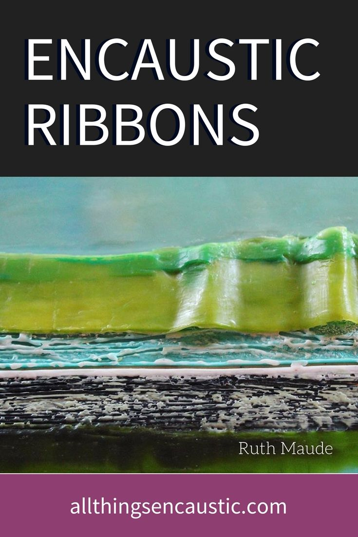 Instructions for making Encaustic Ribbons | Scrape off strips of encaustic wax to reapply as one would a collage elementto other encaustic paintings