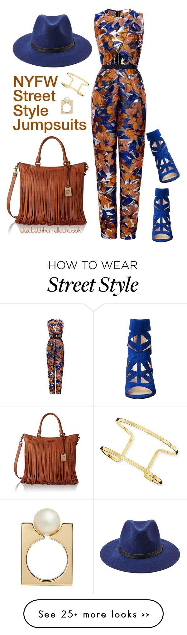 """NYFW Street Style Jumpsuits"" by elizabethhorrell on Polyvore featuring moda, Kaelen, Forever 21, Nine West, Frye, Jules Smith e Chloé"
