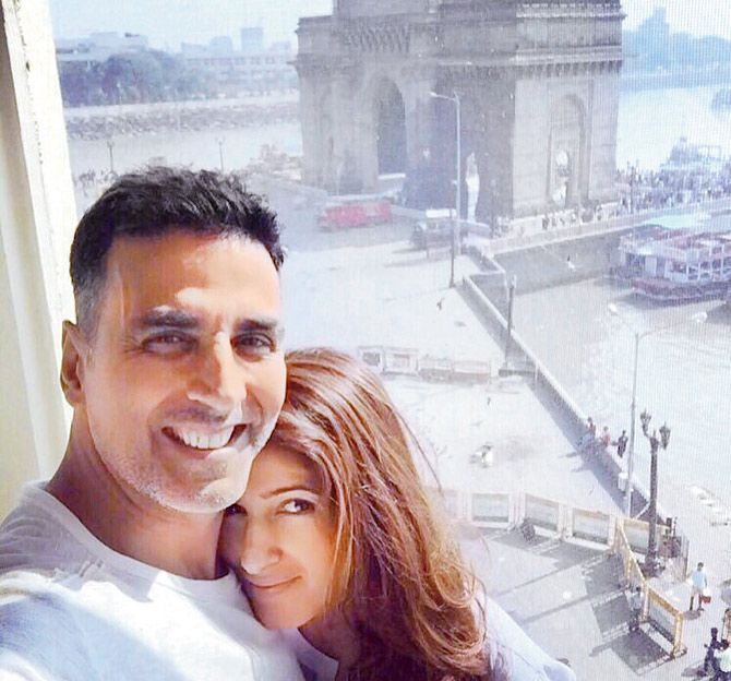 Akshay Kumar and wife Twinkle's 'staycation' at a hotel in SoBo
