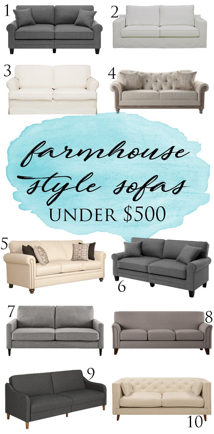 The Best Farmhouse Style Sofas Under 500 Farmhouse Sofa