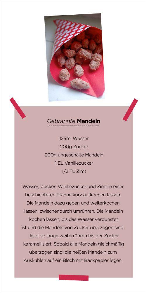 gebrannte Mandeln - Rezept
