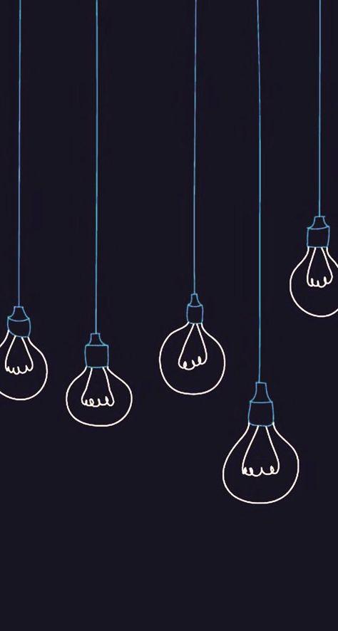 Light bulbs minimalistic
