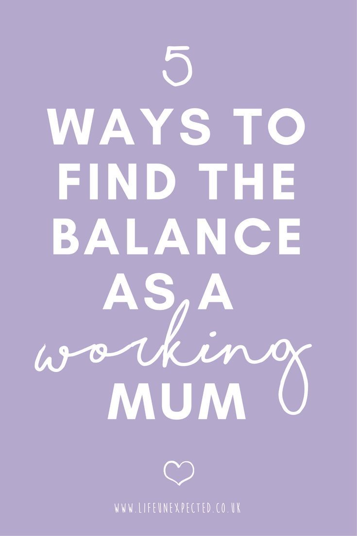 5 ways to find the balance as a working mum. Struggling to find the balance of raising a family and working? Here's some tips on how to juggle everything and find the perfect balance as a working mom.