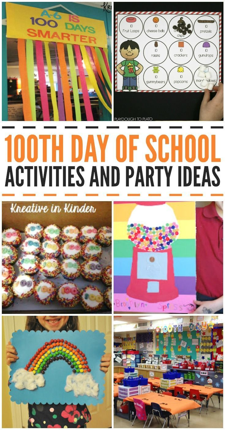 100th Day of School Activities and Party Ideas! These are great for preschool, kindergarten, and older kids, too! - Kreative in Life