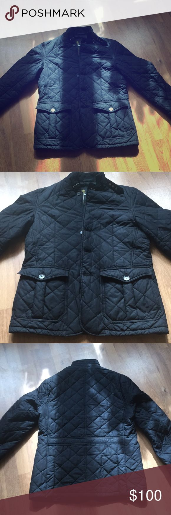 Barbour men's medium lutz jacket This jacket is in good condition. There is one small pull/hole in the outside of the jacket (shown in pics). Barbour Jackets & Coats