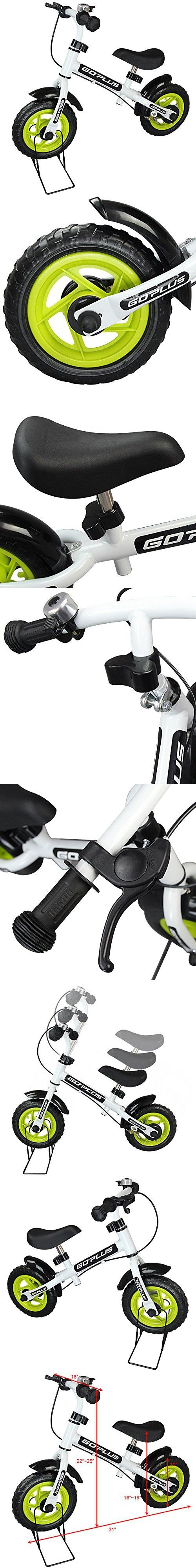 "Goplus 10"" Kids Balance Bike No Pedal Learn To Ride Pre Bike Push Walking"