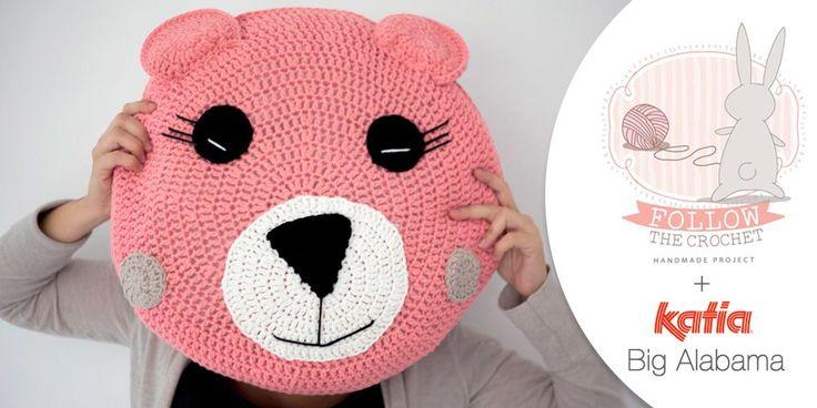 Craft Lovers ♥ Cuscino Orso all'uncinetto con Katia Big Alabama by Follow the Crochet