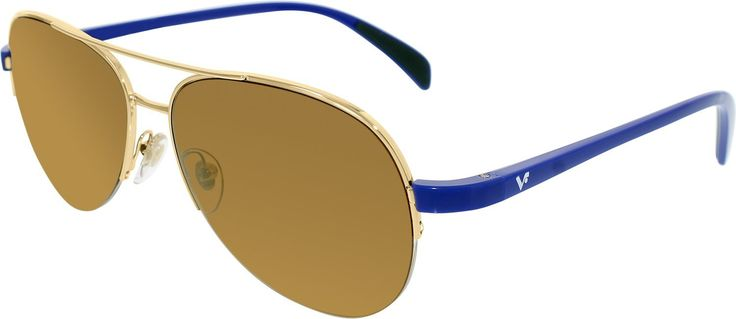 Vogue Women's VO3924S-280/6H-57 Gold Aviator Sunglasses. Gold / Brown Color. Aviator Style. UVA/UVB Protection. 57mm / 15mm / 140mm.
