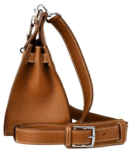 Hermes Jypsiere bag in tan (gold) leather. Side view. | Herm¨¨s ...