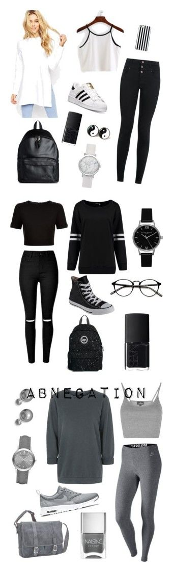 """Divergent"" by the-hidden-artist ❤ liked on Polyvore featuring adidas, New Look, ASOS, MICHAEL Michael Kors, Eastpak, NARS Cosmetics, Ted Baker, Topshop, Converse and Hype"