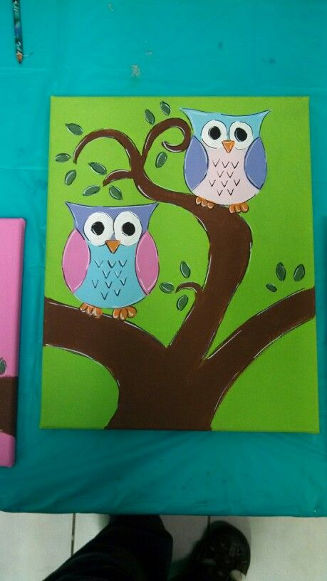 Easy Owl Painting On Canvas