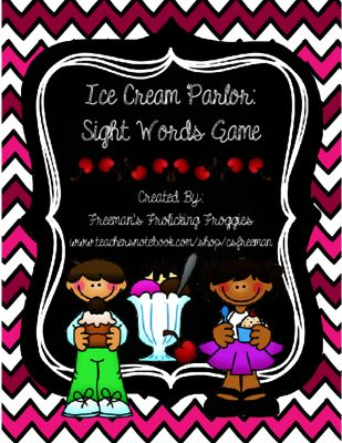Ice Cream Parlor Bundle Giveaway! Enter for your chance to win.  Ice Cream Parlor-Sight Words and Fact Fluency Games (0 page) from Freeman's Frolicking Froggies on TeachersNotebook.com (Ends on on 2-27-2015)  Want to win my new bundle? It includes games for both sight words and basic math fact fluency!