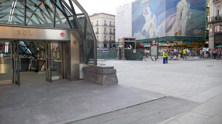 New entrance at Puerta del Sol Commuter train station at the heart of madrid