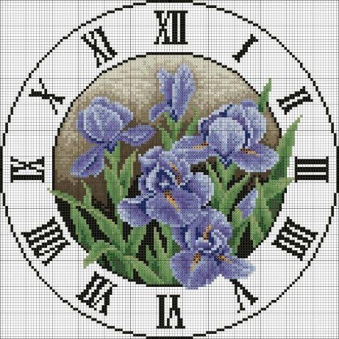Идеи по декору часов / Вышивка / Схемы вышивки крестом
