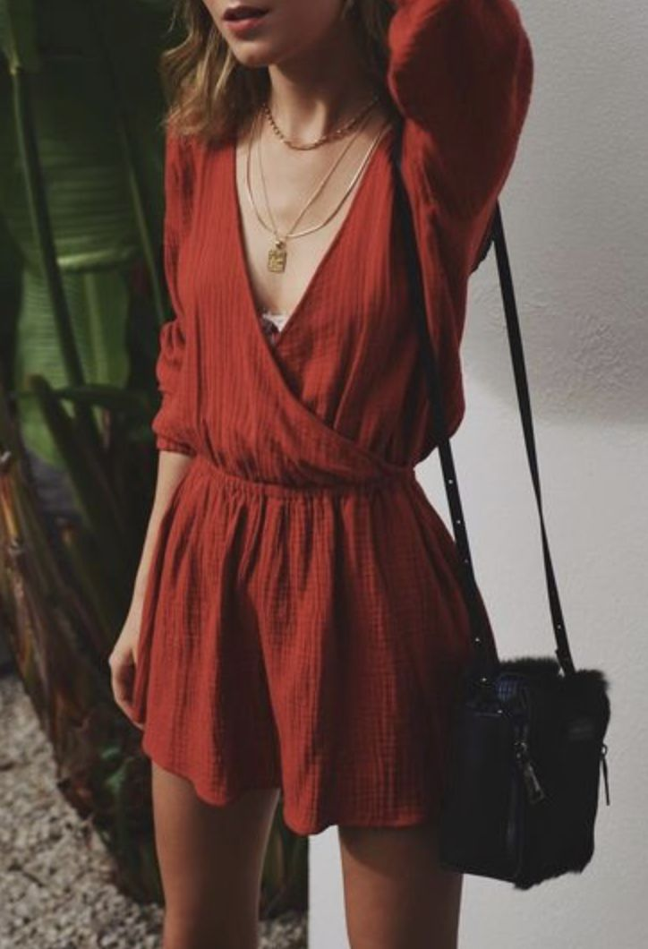 // aubrianneke ❁ | red 70s style wrap dress | women's fashion | summer playful fashion fun | retro