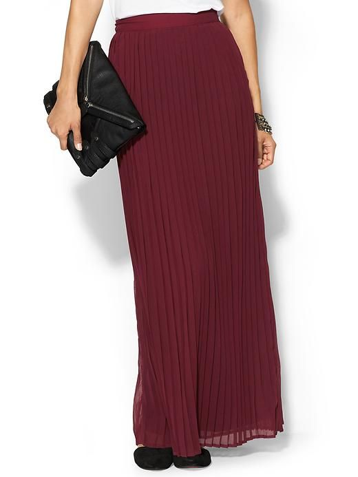 piperlime pleated maxi skirt color style