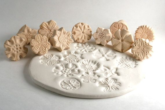Clay Stamp Flower Power Just ONE Random Tool for Ceramics Pottery Polyclay Metal Clay