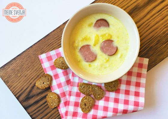 Deftig-sahniger Blumenkohl -Kartoffel-Eintopf für kalte Tage. Super dazu: Die herzhaften Cabanossi Scheiben.