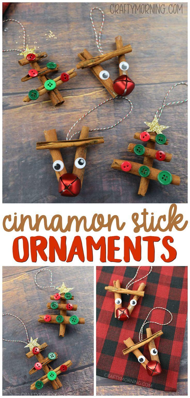 Cinnamon Stick Christmas Ornaments Cinnamon Stick Reindeer And Christmas Tree Ornament Stick Christmas Tree Kids Christmas Ornaments Cinnamon Sticks Christmas