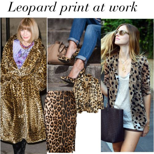 Leopard print at work? Discreetly tamed, it gives great looks