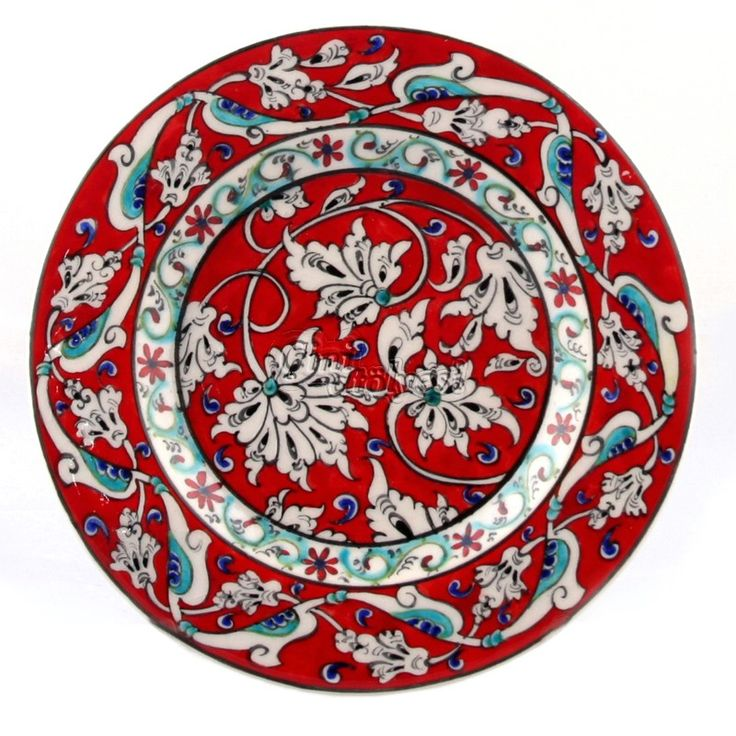 Lotus Desenli Çini Tabak