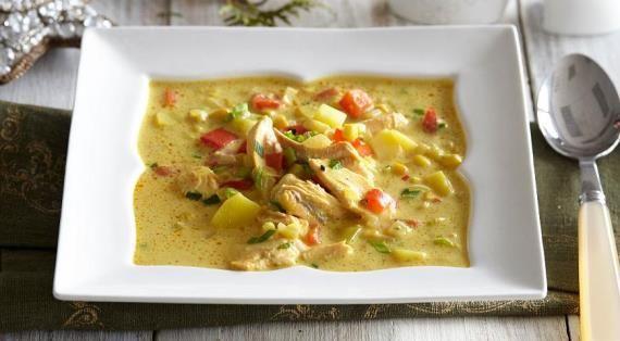 Густой сливочный суп с копченой горбушей, пошаговый рецепт с фото