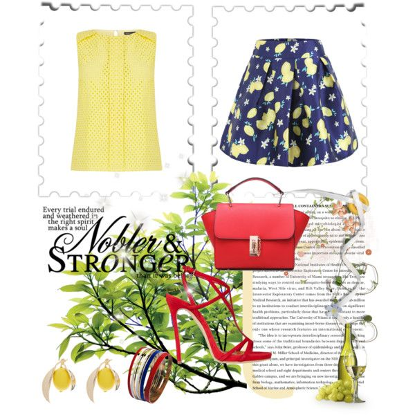 The Lemon Outfit! by stella-black on Polyvore featuring Warehouse and Dsquared2
