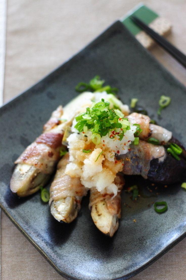 茄子の豚肉巻き おろしポン酢 by 小春ちゃん | レシピサイト「Nadia | ナディア」プロの料理を無料で検索