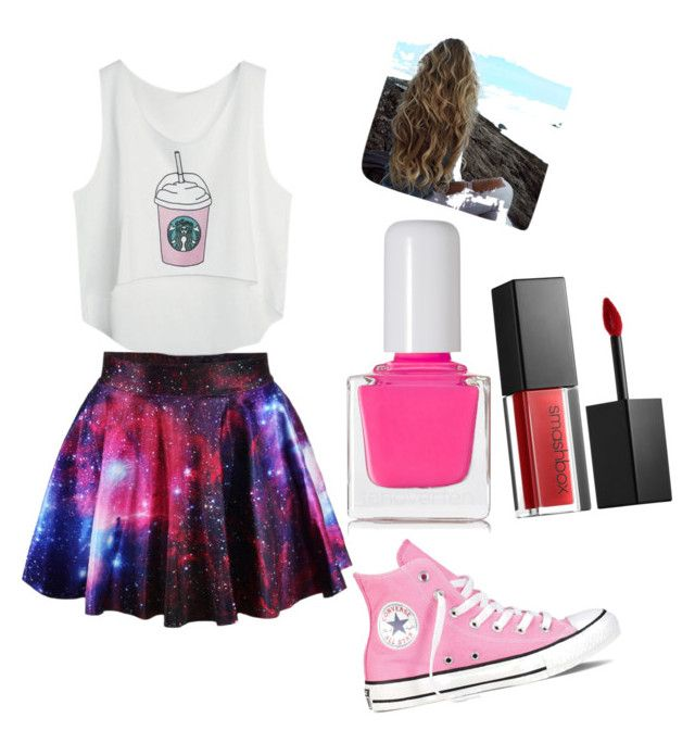 """Untitled #20"" by maria-paula-paez on Polyvore featuring Converse, Smashbox and tenoverten"