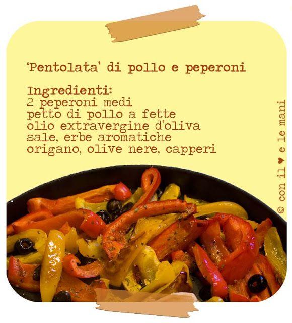 con il cuore e le mani: Pollo e peperoni in forno a microonde