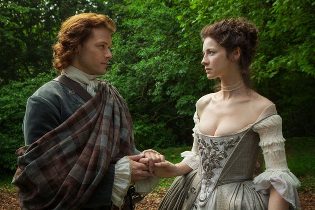 Jamie Fraser (Sam Heughan) and Claire Randall (Caitriona Balfe) The Wedding