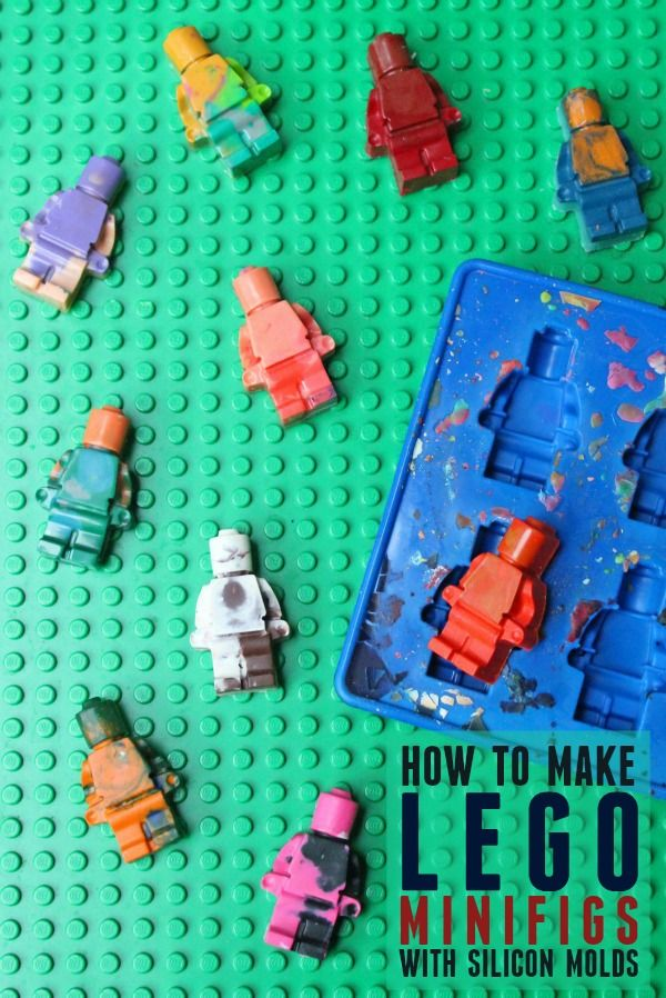 How to make LEGO minifigs using silicon molds -- Step-by-step instructions on how to use molds to make crayon, chocolate, or gelatin LEGO minifigs.