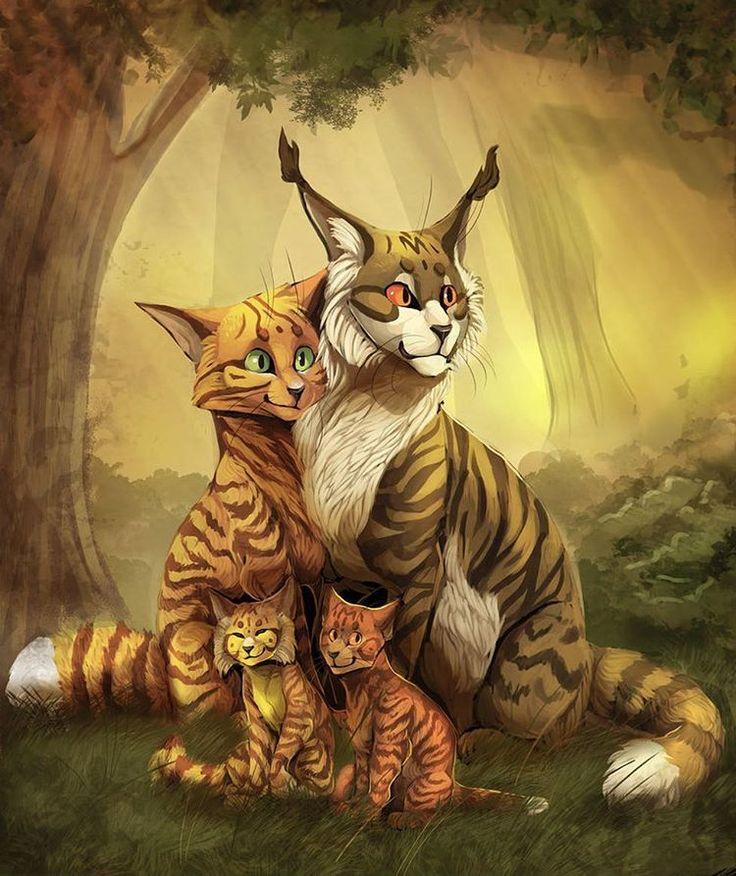 Warrior Cats Dawn Of The Clans Fanart: Squirrelflight Bramblestar Alderpaw Sparkpaw By