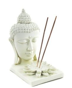 Meditating Buddha Incense Stick Holder and Incense Burner and T Light Candle Holders