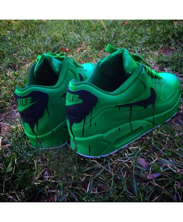 Nike Air Max 90 Drip Custom Green Black Sale Online