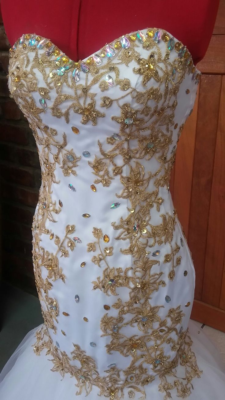 Gold and White Matric Farewell Dresses   *Sel: 083 982 2859