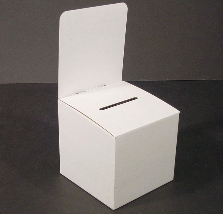 Amazon.com : Set of 10, Large Suggestion Box with Removable Header, Cardboard Ballot Box for Tabletop Use, White : Donation Box : Office Products