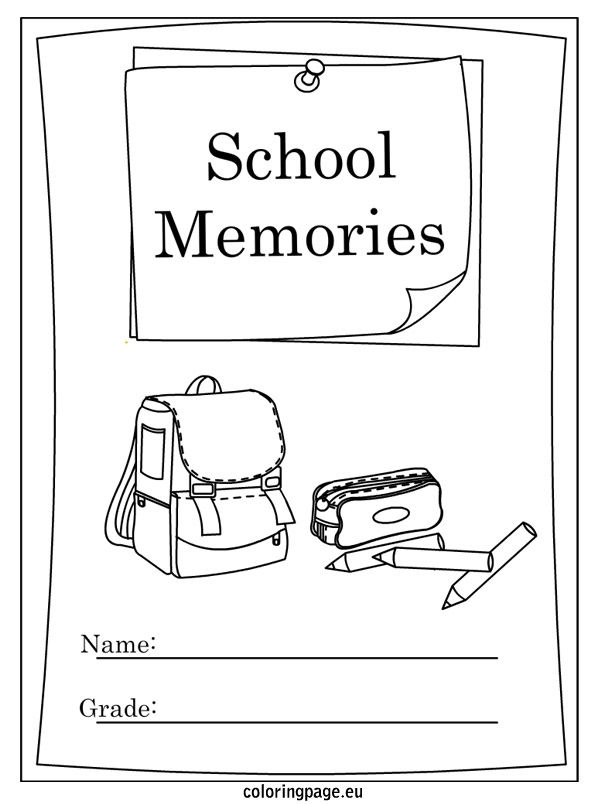 End of School Year Memory Book coloring page School