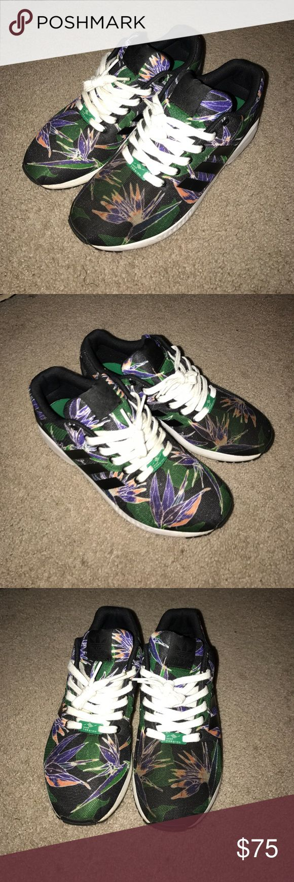 Adidas Torsion ZX flux floral Conditon 9/10. Left shoe is a little bit dirtier the the right but nothing wrong with them. Adidas Shoes Sneakers
