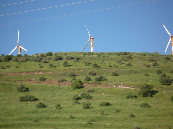 Windmills in the Golan Heights #israelforever @Israel Tourism