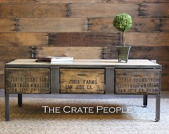 Reclaimed Barn Wood & Vintage Wood Crates 20 by FoundInAttic