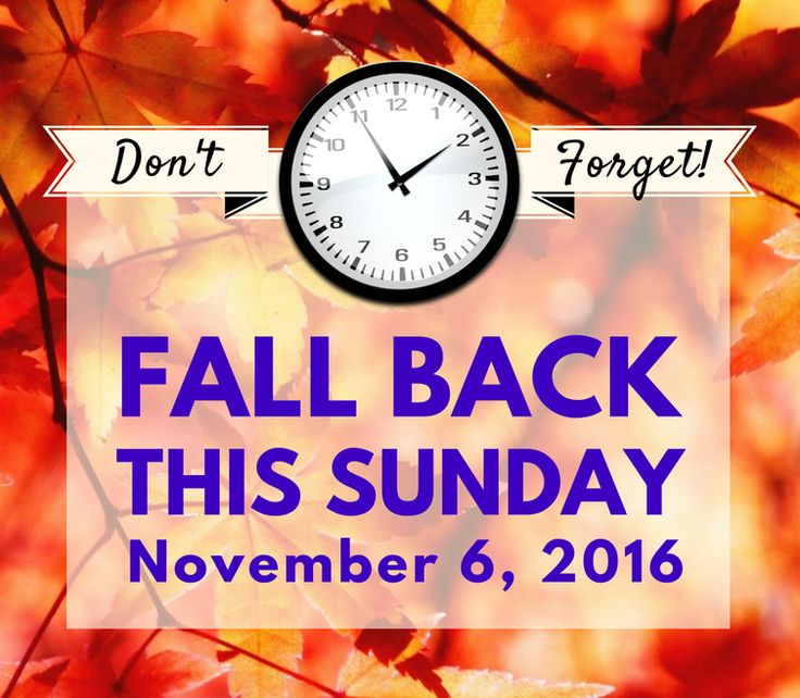 Time Change, Fall Back