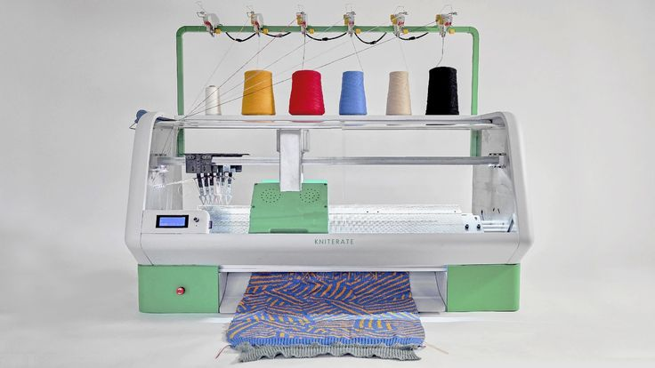 Kniterate, A Digital Desktop Knitting Machine That Prints Custom Designs at the Push of a Button