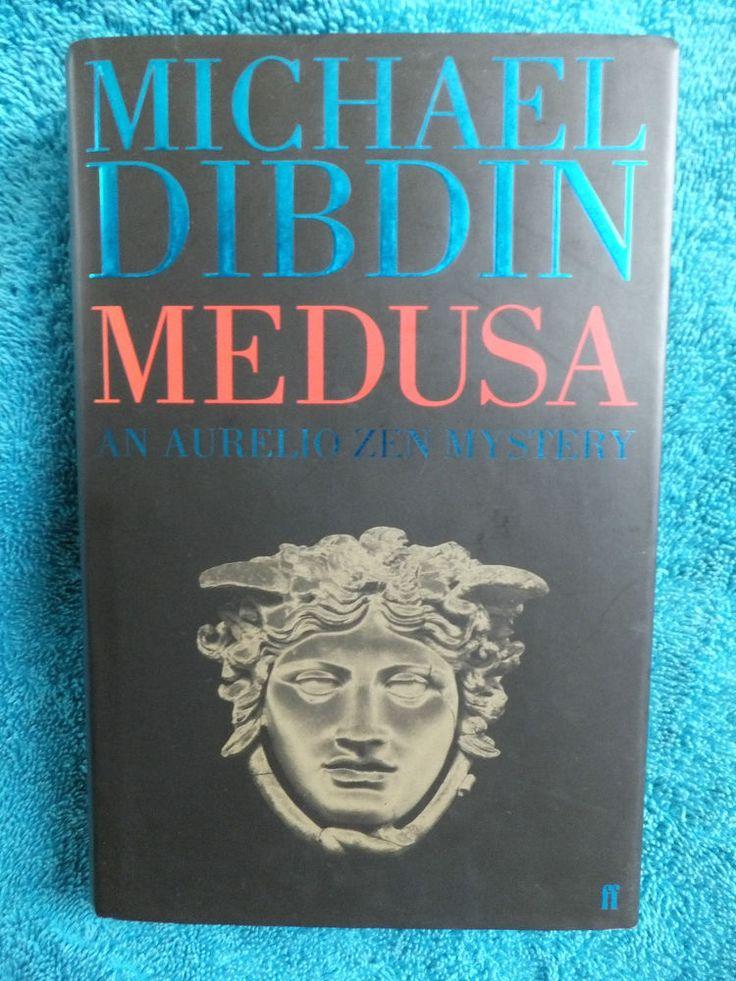 Signed 1st edition hardback book Michael Dibdin 2003 Medusa crime Italy Alps