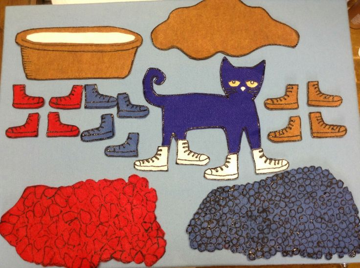 felt storyboard templates - 14 best pete the cat i love my white shoes images on