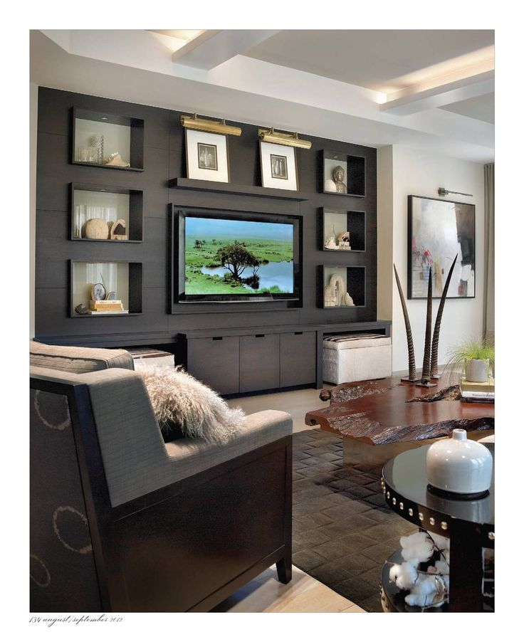 Page 134 Contemporary Living Room Decor: 80 Best Images About TV Backdrop/Wall On Pinterest