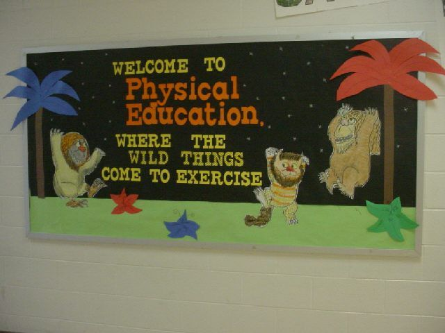 Where the Wild Things are bulletin board.  I would like to have something like this in the classroom library!