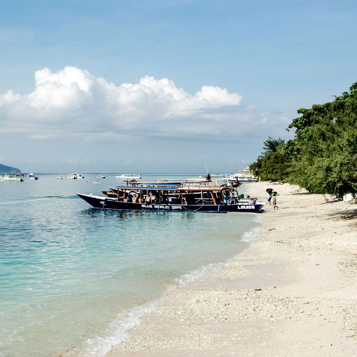 Have a nice walk on the beach as your feet touches the waves of Lombok's shore.