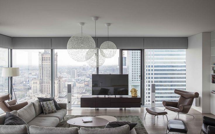 Warsaw apartment. Minimalist interior design.