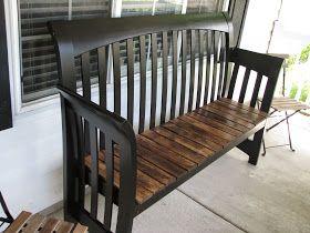 My So-Called DIY Blog: Sleigh bed headboard bench